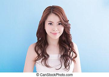 Beauty woman with health skin