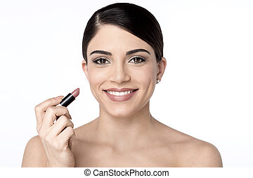 Beauty woman with lipstick