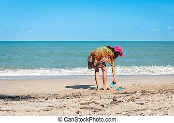 beauty women at the beach