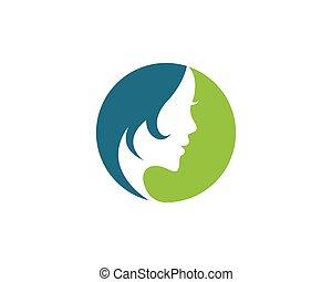 Beauty Women Logo Template