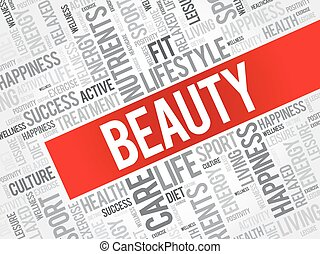 BEAUTY word cloud background