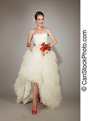 Beauty young posing bride