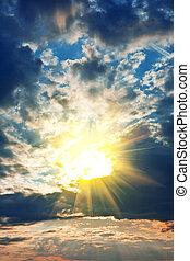beautyful, sonnenuntergangshimmel
