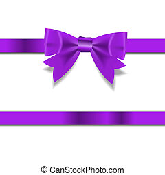 beautyful, vecteur, ruban, illustration, cadeau