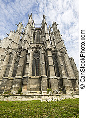 Beauvais (Oise, Picardie, France) - Exterior of the ancient cathedral, in gothic style: apse