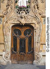 beaux-arts, vecchio, parigi, porte, francia