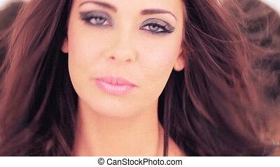 beaux yeux, femme, étouffant