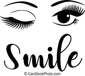 beaux yeux, sourire