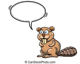 beaver-1000 Cartoon image - Cartoon image of beaver. An...