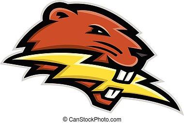 beaver-biting-lightning-bolt-head-mascot