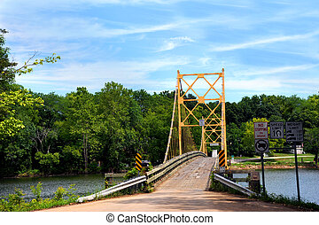 Beaver Bridge - Historic suspension bridge over the White ...