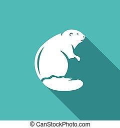 Beaver icon. Vector Illustration.
