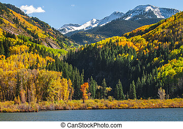 Beaver Lake near town of Marble Colorado