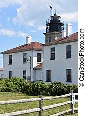 Beaver Tail Lighthouse in Jamestown, Rhode Island - USA