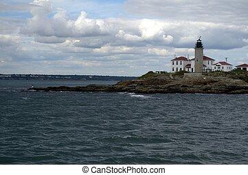Beavertail Light, Jamestown, Conanicut Island RI, USA,...