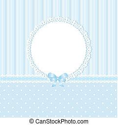 bebé azul, plano de fondo