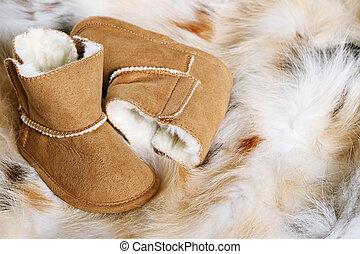 bebé, botas