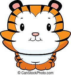 bebé, cachorro de tigre