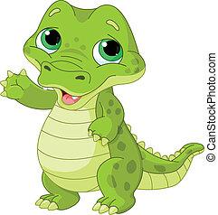 bebé caimán