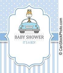 bebé, card., coche, ducha, jirafa, niño, pp de drive