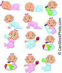 bebé, caricatura, Colección