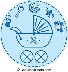 bebé, cosas, colección