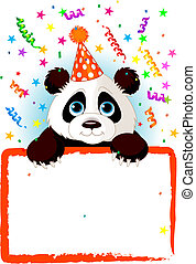 bebé, cumpleaños, panda