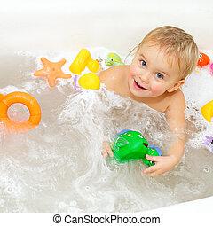 bebé, el bañarse