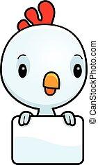 bebé, gallo, caricatura, señal