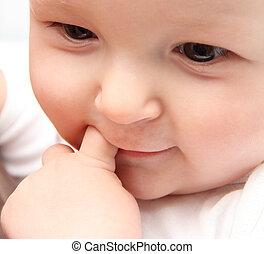 bebé hermoso, cicatrizarse