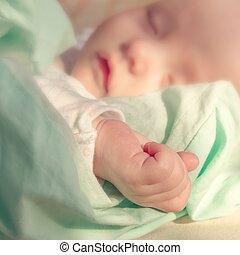 bebé, mano pequeña