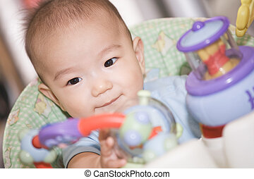 bebé, niño, asiático