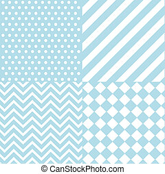 bebé, niño, azul, seamless, patrón