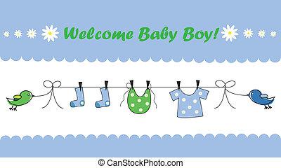 bebé, niño, bienvenida