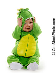 bebé, niño, disfraz,  dragón