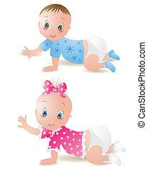 bebé, niño, niña