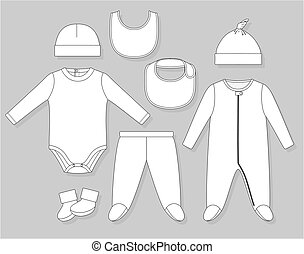 bebé, niño, ropa