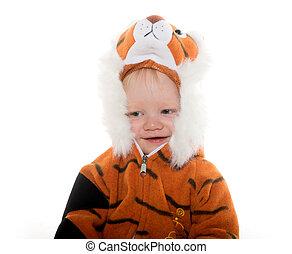 bebé, niño, tigre, disfraz