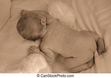 bebé, nuevo nacido