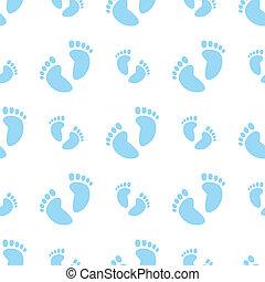 bebé pies, (boy), seamless, plano de fondo