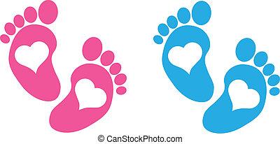 bebé pies
