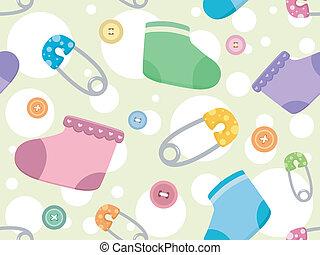 bebé, productos, plano de fondo