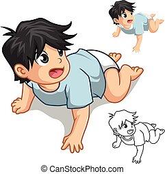 bebé que arrastra