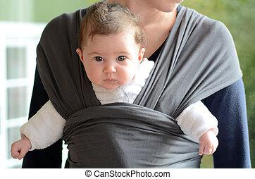 bebé recién nacido, honda, envolver