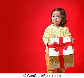 bebé, regalo de navidad