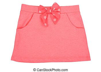 bebé, rosa, falda