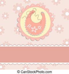 bebé, saludos, tarjeta