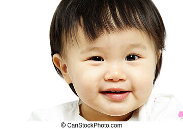 bebé, sonriente