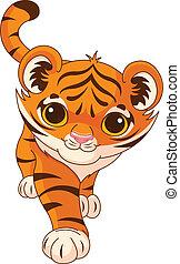 bebé, tigre