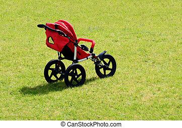 bebé, transporte